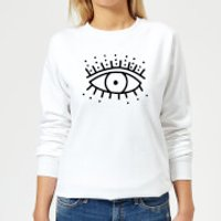 Eye Eye Women's Sweatshirt - White - XS - White