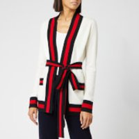 Madeleine Thompson Women's Tibbs Knit Cardigan - Cream/Red/Black - S - Black