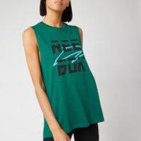Reebok Mens WOR MYT Reebok Muscle Top - Green - S - Green