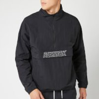 Reebok Men's MYT Woven 1/2 Zip Jacket - Black - L - Black