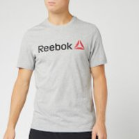 Reebok Men's Reebok Linear Read Short Sleeve T-Shirt - Grey - XXL - Grey