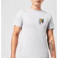 Rubik's Smash Cube Men's T-Shirt - Grey - XXL - Grey