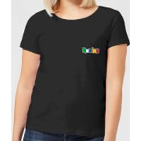 Rubik's Core Logo Pocket Women's T-Shirt - Black - XS - Black