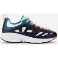 Tommy Jeans Men's Retro Chunky Runner Style Trainers - Blue/Russet/Orange - EU 43/UK 9 - Blue