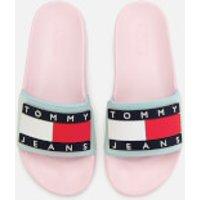 Tommy Jeans Women's Translucent Flag Pool Slide Sandals - Pink Mist - EU 38/UK 5 - Pink