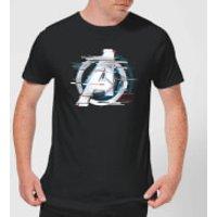 Avengers: Endgame White Logo Men's T-Shirt - Black - L - Black