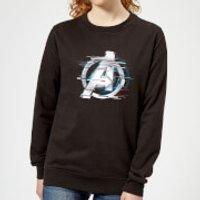 Avengers: Endgame White Logo Women's Sweatshirt - Black - 4XL - Black