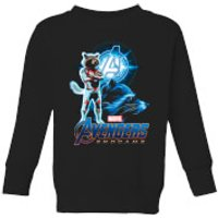 Avengers: Endgame Rocket Suit Kids Sweatshirt - Black - 9-10 Years - Black