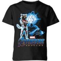 Avengers: Endgame Rocket Suit Kids T-Shirt - Black - 5-6 Years - Black