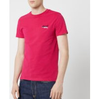 Superdry Men's Orange Label Vintage Embroidered Short Sleeve T-Shirt - Rich Raspberry - S - Red