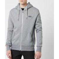 Superdry Men's Orange Label Zip Hoody - Vintage Grey Feeder Stripe - M - Grey