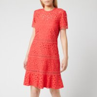 MICHAEL MICHAEL KORS Women's Eyelet Mix Dress - Sea Coral - US 4/UK 8
