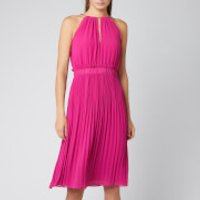 MICHAEL MICHAEL KORS Womens Chain Midi Dress - Deep Fuschia - M - Pink