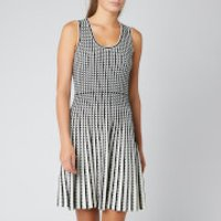 MICHAEL MICHAEL KORS Women's Geo Grid Pleated Dress - Black/Bone - M - Black