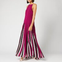 MICHAEL MICHAEL KORS Womens Pleated Multi Strap Dress - Bone/Garnet - M - Black