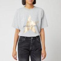 Golden Goose Deluxe Brand Women's Hoshi T-Shirt - Melange/Golden Star - L - Grey