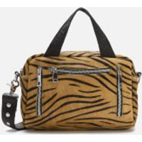 shop for Núnoo Women's Donna Shoulder Bag - Brown Zebra at Shopo