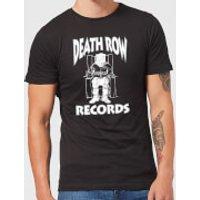 Death Row Records Logo White Men's T-Shirt - Black - 5XL - Black