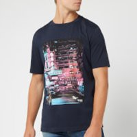 BOSS Men's Toll 1 Shanghai Print T-Shirt - Navy - M - Blue