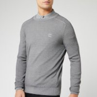 BOSS Men's Akustor Knit Jumper - Grey - XXL - Grey