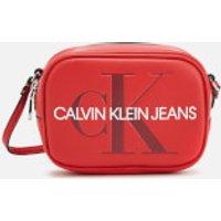 Calvin Klein Jeans Monogram Camera Bag - Cherry