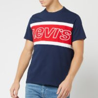 Levi's Men's Color Block Jersey T-Shirt - Dress Blues - XL - Multi