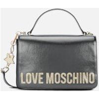 Love Moschino Women's Logo Charm Shoulder Bag - Pewter