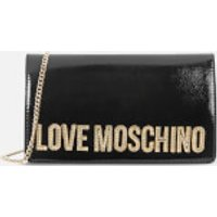 Love Moschino Women's Logo Charm Cross Body - Black