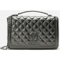 Love Moschino Women's Quilted Shoulder Bag - Pewter