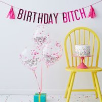 Ginger Ray Naughty Party Balloons & Bunting Pack - Pink - Party Gifts