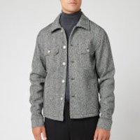 Maison Margiela Men's Vintage Herringbone Jacket - White and Black - IT 52/XL