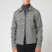 Maison Margiela Men's Vintage Herringbone Jacket - White and Black - IT 46/S