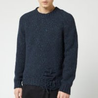 Maison Margiela Men's Distressed Jumper - Navy - M