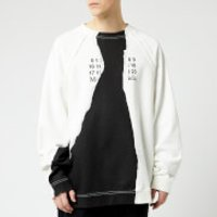 Maison Margiela Men's Ripped Print Sweatshirt - Off White - IT 48/M