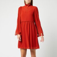See By Chloe Women's Frill Detail Dress - Earthy Red - FR 42/UK 14 - Red
