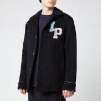 Lanvin Men's Pea Coat - Navy Blue - IT 50/40  - Blue