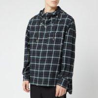 Lanvin Men's Hooded Overshirt - Black/Green - 41cm/16  - Green