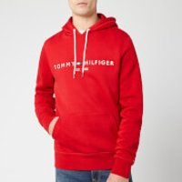 Tommy Hilfiger Men's Tommy Logo Hoodie - Haute Red - L - Red