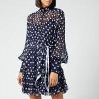 Zimmermann Women's Sabotage Lantern Mini Dress - Midnight Dot - 1/UK 10 - Multi
