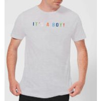 Its A Boy Mens T-Shirt - Grey - S - Grey