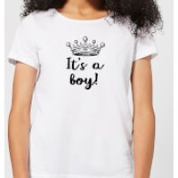 Its A Boy Womens T-Shirt - White - 5XL - White