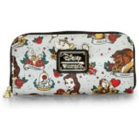 Loungefly Disney Beauty and the Beast Tattoo Style Print Wallet - Wallet Gifts