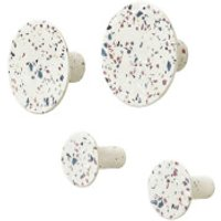 Blomus Ponto Set of 4 Wall Hooks - Terrazzo Coloured