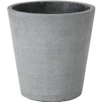 Blomus Coluna Flower Pot - Dark Grey 14.5cm x 14cm