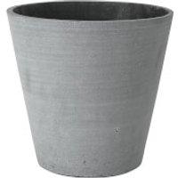 Blomus Coluna Flower Pot - Dark Grey 24cm x 26cm