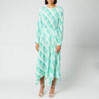 RIXO Women's Elsa Dress - Sponge Check/Teal Blue - M
