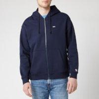 Tommy Jeans Mens Classic Zip Through Hoodie - Black Iris - XL - Blue