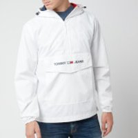 Tommy Jeans Men's Lightweight Pop Over Jacket - Classic White - XXL - White