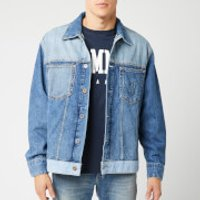 Tommy Jeans Men's Oversized Trucker Jacket - Care Mix Blue - M - Blue
