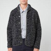 YMC Men's Leopard Beach Jacket - Charcoal/Navy - S - Grey